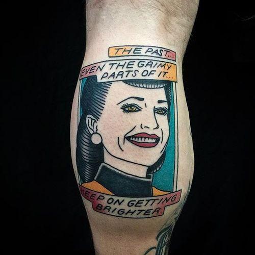 Watchmen tattoo by Matt Cooley. #MattCooley #watchmen