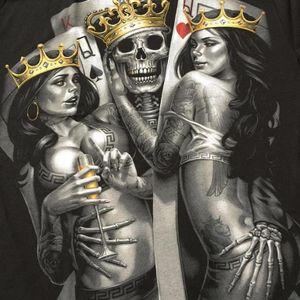 Playing cards by OG Abel #OGAbel #art #chicano #blackandgrey #pinup #skull #king #queen