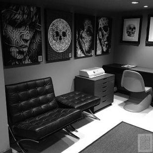 Joz's studio #Joz #MarkJoslin #tattoostudio (Photo: Instagram @joz100)