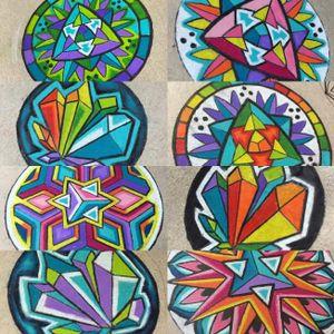 Glass pendant designs #ChrisFreeborg #pattern #glass #glassart #art