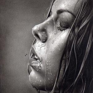 #shower #banho #agua #water #drawing #CharlesLaveso #desenho #HiperRealismo #desenhos #realismo #pretoecinza #brasil #brazil #portugues #portuguese
