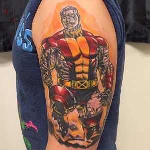 Colossus Tattoo by Michael Manfredi #Colossus #XMen #MarvelTattoos #SuperheroTattoos #MichaelManfredi