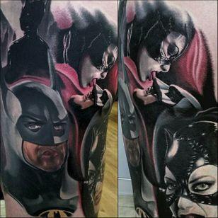 Batman Tattoo by Christopher Bettley #Batman #Portrait #PortraitTattoos #ColorPortraits #PortraitRealism #ChristopherBettley