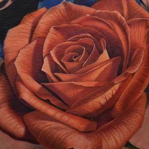 A closeup of one of Phil Garcia's (IG—philgarcia805) exquisite roses. #color #flowers #PhilGarcia #realism #rose