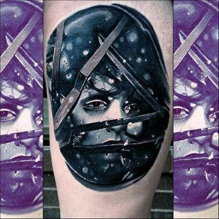 Edward Scissorhands Tattoo by Christopher Bettley #EdwardScissorhands #Portrait #PortraitTattoos #ColorPortraits #PortraitRealism #ChristopherBettley