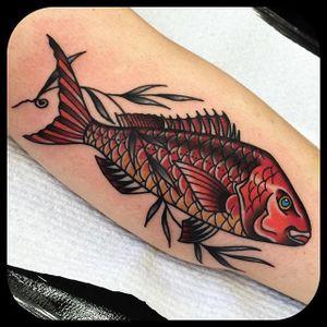 Fish scales. (via IG - leonienewtattoos) #LeonieNew #Traditional #TraditionalTattoo #Fish