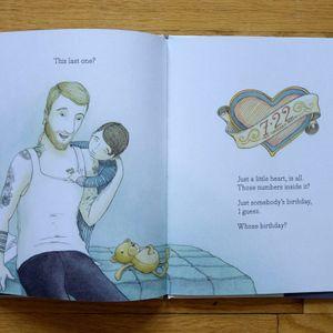 The heart tattoo from Tell Me a Tattoo Story by Alison McGhee. #AlisonMcGhee #childrensbooks #ElizaWheeler #TellMeaTattooStory