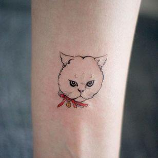 Sweet cat tattoo #cat #cattoo #tattooistdoy #doy #southkorea