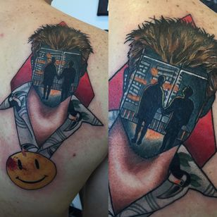 The first rule about this tattoo by Jay Joree is that you don't talk about this tattoo by Jay Joree. (Via IG - jayjoree) #JayJoree #popculture #surrealism #fightclub