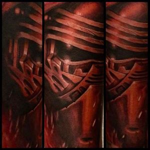 Kylo Ren tattoo by Sean Sweeney. #realism #colorrealism #SeanSweeney #KyloRen #StarWars