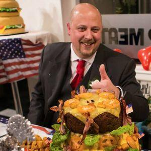Tony Virr at his favorite restaurant. #TonyVirr #Hamburger #CompetitiveEating