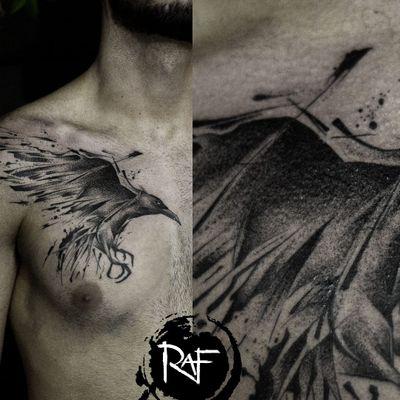 #RafXimenes #TatuadoresBrasileiros #brasil #brazil #brazilianartist #blackwork #pontilhismo #dotwork #ave #passaro #bird #corvo #raven
