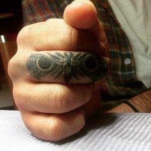 by AISTE G #Clever #owl #fingertattoo #eyes #AisteG