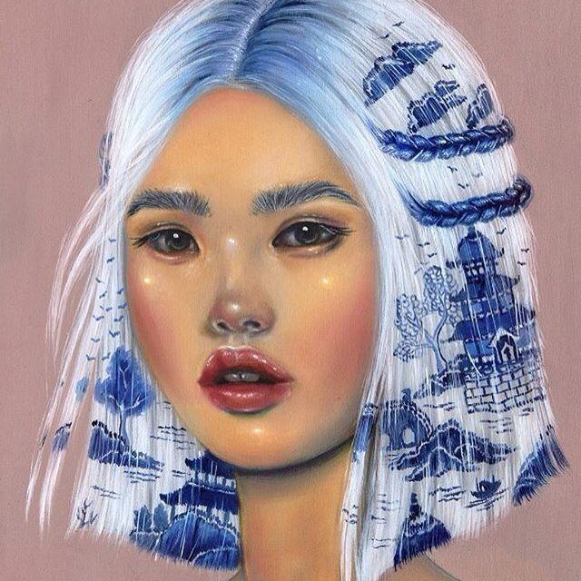 """Suyin"" via @relmxx #Relm #ARTSHARE #painting #fineartist"