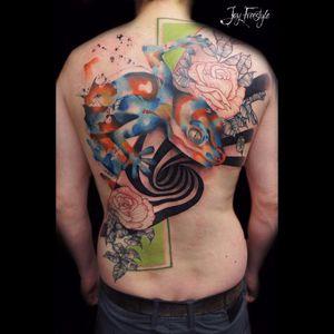 Tattoo por Jay Freestyle! #JayFreestyle #conceitual #conceptual #conceptart #colorful  #lagarto #lagart