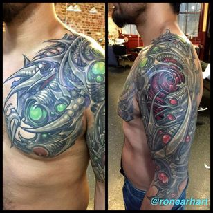 Bio Mechanical Tattoo by Ron Earhart #biomechanical #biomechanicaltattoo #biomechanicaltattoos #biomechtattoo #biomechtattoos #biomech #biomechanicalartists #biomechanicalartist #RonEarhart