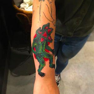 Demogorgon Stranger Things. Tattoo by Larry Wayne @LarryWaynetattoo #StrangerThings #Netflix #tvshow #tvseries #demogorgon
