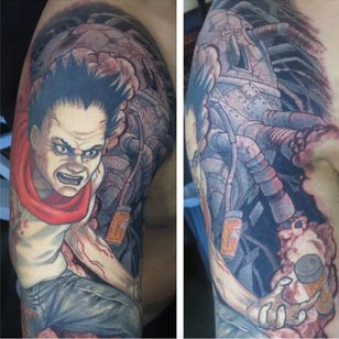 A portrait of Tetsuo from Rob Noseworthy's body of work (IG—robnoseworthy). #Akira #anime #RobNoseworthy #Tetsuo