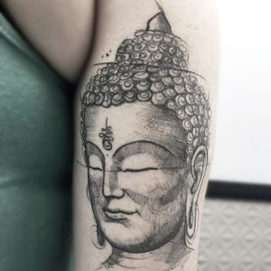 Buddha Tattoo by Felipe Mello #buddha #watercolor #sketch #watercolorsketch #watercolorartist #brazilianartist #FelipeMello