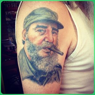 Castro portrait by Alberto Mario Anconetani (via IG -- lion_flowers_tattoo) #AlbertoMarioAnconetani #castro #communism
