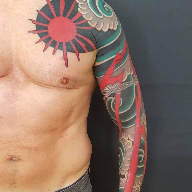 Japanese sleeve by Nick Horn #NickHorn #japanese #sleeve