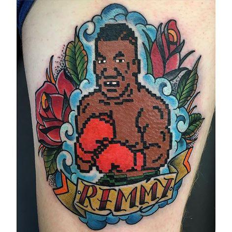 Mike Tyson Tattoo by Adam Pasquali #MikeTyson #MikeTysonTattoo #BoxingTattoo #SportTattoos #Portrait #AdamPasquali