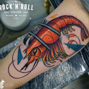 Lagosta! #lagosta #lobster #PiotrGie #coloridas #tatuagenscoloridas #colorful #brasil #brazil #portugues #portuguese