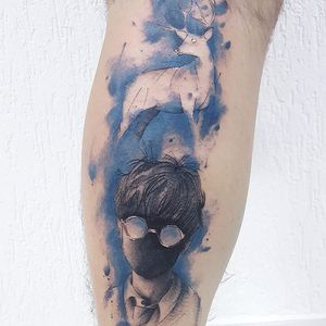 Tattoo por Dani Bastos! #DaniBastos #tatuadorasbrasileiras #tattoobr #Brasília #HarryPotter #expectopatronum #patrono #patronum