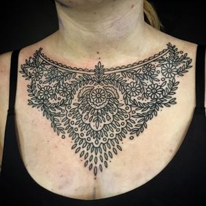 Pattern tattoo by Bastien Jean #BastienJean #pattern #patterned #floral #intricate #linework