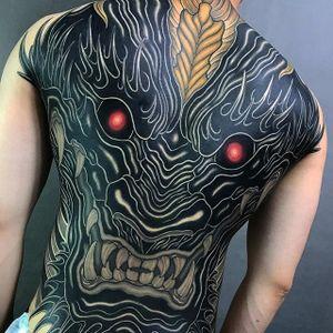 Dragon head by Shiryu #Shiryu #dragon #color #japanese #tattoooftheday
