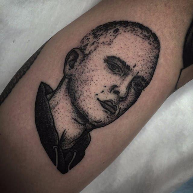 Eminem Tattoo by Terry James #eminem #eminemart #marshallmathers #marshallmathersIII #rapper #rap #hiphop #music #TerryJames