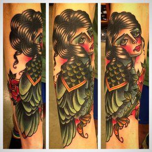 Harpy Tattoo by Kajsa Franzén #Harpy #Harpies #HarpyTattoo #MythologyTattoos #GreekTattoos #MythTattoos #Traditional #KajsaFranzen
