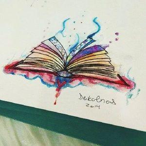 #livro #book #leitura #pintura #painting #desenho #drawing #ilustração #aquarela #watercolor #coloridas #colorful #Drikalinas #brasil #brazil #portugues #portuguese