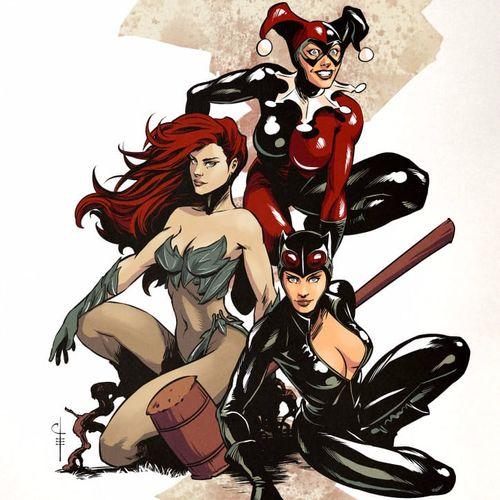 As donas da cidade #GothamCitySirens #SereiasDeGotham #Catwoman #mulhergato #poisonivy #heravenenosa #harleyquinn #arlequina #dc #comic #cartoon #movie #filme #heroes #villains #badgirls #girlpower