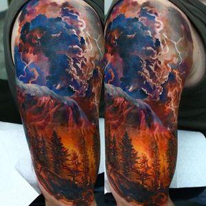 Forest Tattoo by Domantas Parvainis #ColorRealism #Portrait #Realism #AmazingTattoos #DomantasParvainis