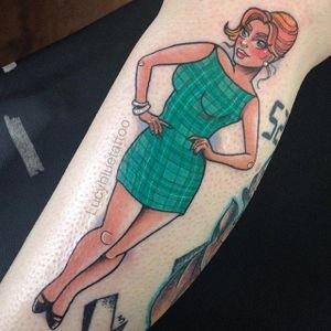 Retro pin up lady. #LucyBlue #pinkwork #pinup #lady #girly #retro