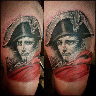 Napoleon by Niko Kustom (via IG -- nikokustomtattoo) #nikokustom #portrait #napoleon