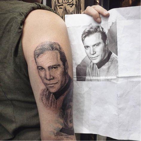 Capitão James Kirk #DiegoCurcio #brazilianartist #tatuadoresdobrasil #brasil #brazil #pontilhismo #capitaokirk #captainkirk #jameskirk #startrek #actor #ator #movie #filme #williamshatner #nerd #geek #tvshow #serie #dotwork