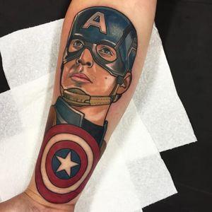 Captain America. (via IG - gibb0o) #neotraditional #portrait #character #gib #captainamerica