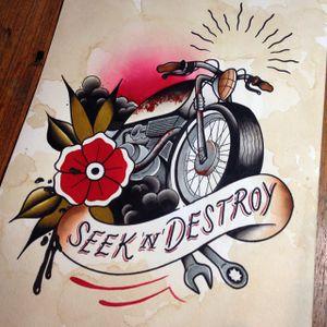 Seek N Destroy by Yukitten'me (via IG-yukittenme) #flashart #flash #illustration #yukittenme #artshare #flashfriday #bike #motorcycle