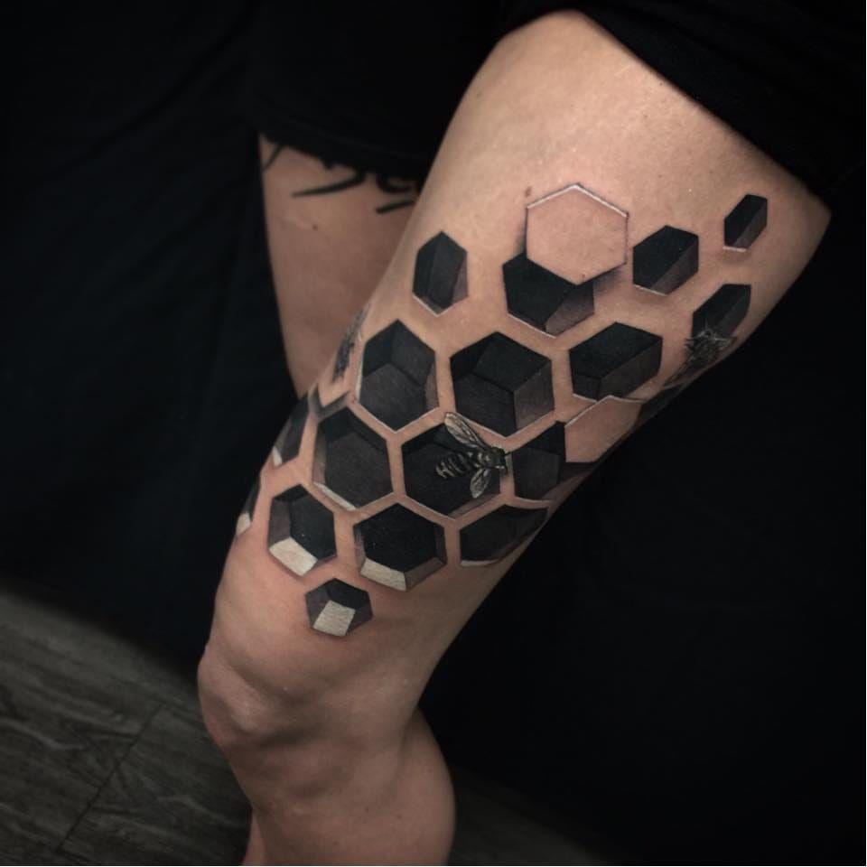 Colmeia #JesseRix #realismo #realism #3d #gringo #geometric #geometrica #abelha #bee #colmeia #hive #bug #inseto