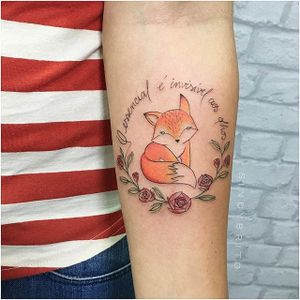 Fox tattoo by Sindy Brito. #SindyBrito #fineline #subtle #fox