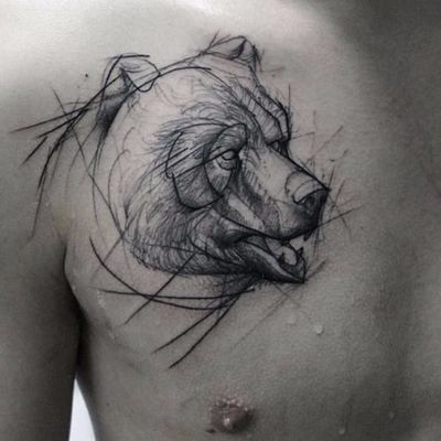 #KamilMokot #sketch #sketchtattoo #sketchstyle #rascunho #tattoorascunho #urso #bear