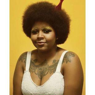 Pictured, Letícia Rodrigues – Photo by Thássio Dias. #afropunk #blackgirlmagic #tattooedwomen #beauty