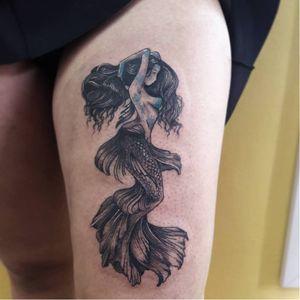 #sereia #marmeid #MantraTattoo #TattooGuest #TattooGuestLive #fineline #mandalas #SaoPaulo #SP #brasil