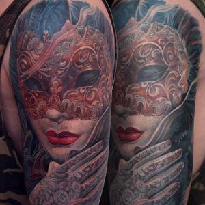 Venetian mask tattoo #Boris #realistic #venetian #mask