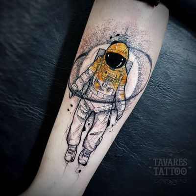 #JCTavares #brasil #brazil #brazilianartist #tatuadoresdobrasil #blackwork #pontilhismo #dotwork #sketch #aquarela #watercolor #astronauta #astronaut