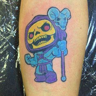 Sweet Funko Pop! Skeletor by Henry Bachmann (via IG -- henrybachmanntattoos) #henrybachmann #skeletor #funko #funkotattoo #funkopop #funkopoptattoo