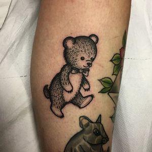Bear Tattoo by Sarah Whitehouse #bear #beartattoo #dotworkanimal #dotwork #dotworktattoo #animal #SarahWhitehouse