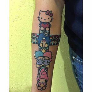 Sanrio tattoo by Damask Tattoo. #sanrio #adorable #kawaii #cute